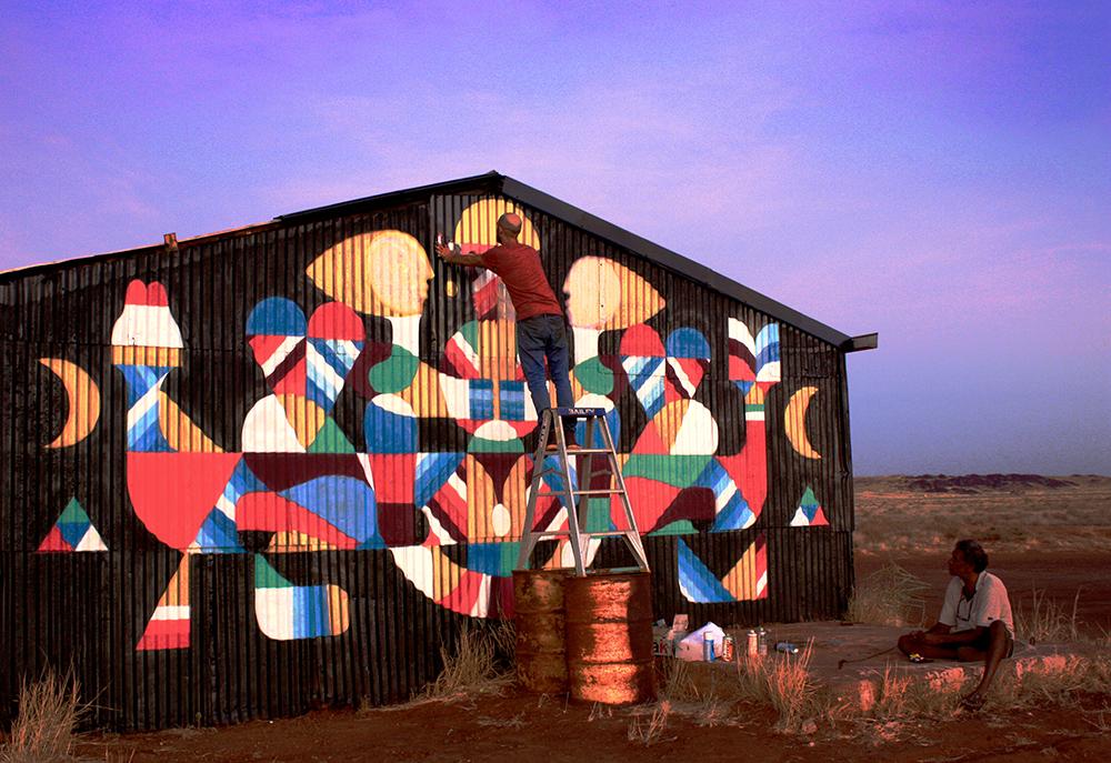 MANI GURI MINGALA. Work in progress. PILBARA. Australia.